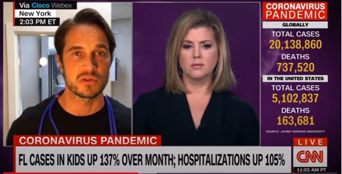 CNN NATIONAL: COVID-19 SPIKE IN CHILDREN & ELDERLY (08-11-2020)