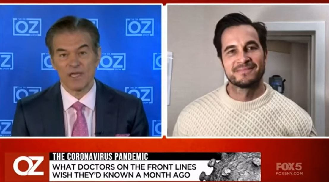DR. OZ: COVID-19 – LEARNINGS AFTER TESTING POSITIVE (04-23-2020)