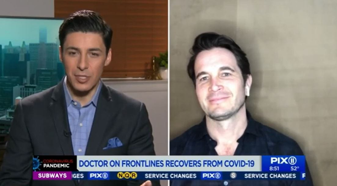 WPIX NY: RECOVERING FROM COVID-19: A PERSONAL EXPERIENCE (04-09-2020)
