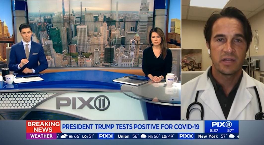 WPIX 11: PRESIDENT TRUMP ANNOUNCES HE'S POSITIVE FOR CORONAVIRUS (10-03-2020)