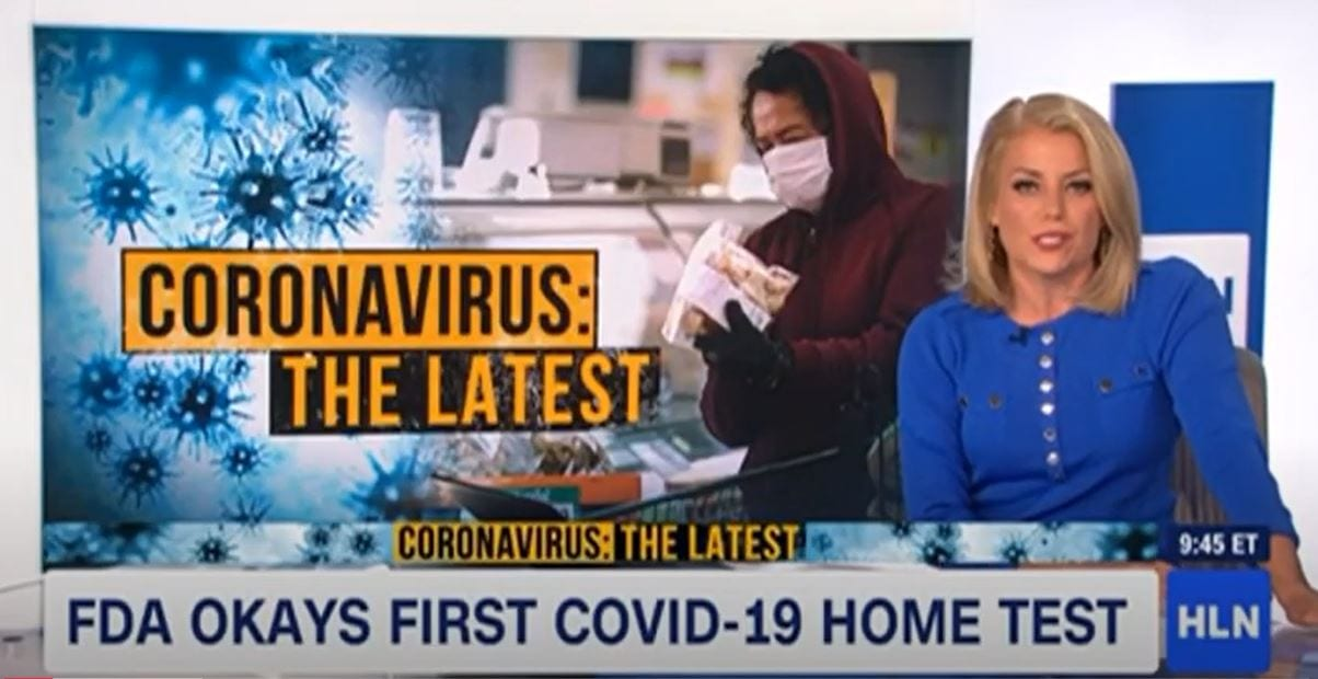 HLN: COVID-19 UPDATES AND 1ST FDA APPROVED HOME RAPID COVID-19 TEST (11-23-2020)